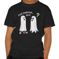 Cool Costume, Bro! Funny Ghost Confusion Kid's T-shirt. By RedNebulaStudios.