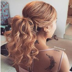 formal+curly+ponytail