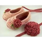 Resultado de imagen para balacas tejidas en crochet bebés