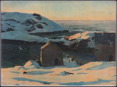 After Rockwell Kent (AMERICAN, 1882-1971) Winter : Lot 131-6187 #rockwellkent #american #winter #painting #fineart