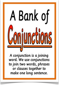 A Bank of Conjunctions - Treetop Displays - Downloadable EYFS, KS1, KS2 classroom display and primary teaching aid resource