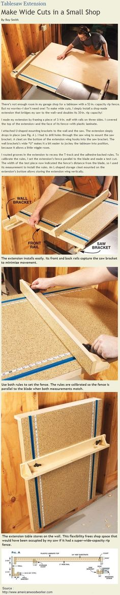 Tablesaw Extension | Free Plans