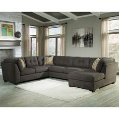 Delta City - Steel Living Room Sectional 3pc Set