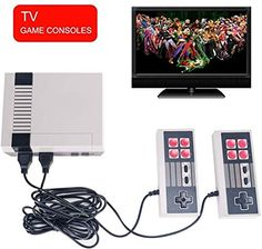 Classic Mini Game Consoles Retro Family TV Game Console Built-in 620 TV Video Game With Dual Controller games console New Video Games, Classic Video Games, Retro Video Games, Retro Games, Tv Game Console, Video Game Console, Donkey Kong, Metroid, Xbox One