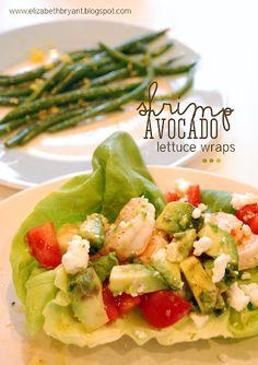 Shrimp avocado lettuce wraps