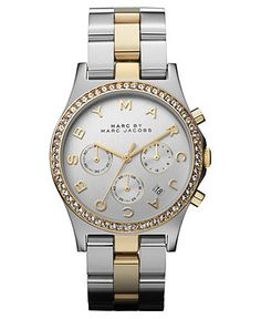 Marc by Marc Jacobs Watch, Women's Chronograph Two-Tone Stainless Steel Bracelet 40mm MBM3197 - Marc by Marc Jacobs - Jewelry & Watches - Macy's