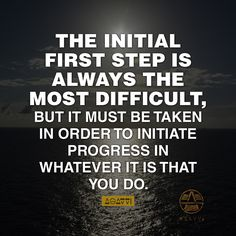 The initial first step is always the most difficult, but it must be taken in order to initiate progress in whatever it is that you do. #motivation #inspirationalquotes #motivationalquotes #lifequotes #business #entrepreneur #clothingline #fashion #successful #streetwear #urbanfashion #urbanwear #quotes #style #independent #independence #skateboarding #life #struggle #hustle