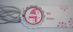 Handmade Christmas Gift Tags  Snowman by 2CheekyChicks on Etsy, $4.00