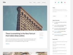 Vito is a blogging theme that offers a beautiful and modern design to your site.