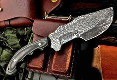 Custom Handmade Damascus MASSIVE TRACKER Survival Hunter SCOUT Knife by ComeandTakeThem on Etsy