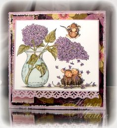 house mouse card ideas | House Mouse and Friends Challenge #73-Happy Birthday