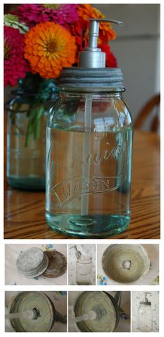 What to do with all the mason jars after the wedding : Make a Canning Jar Soap Dispenser