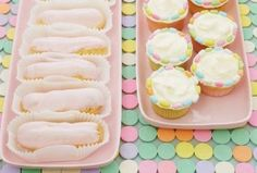 #Eclairs and #cupcakes in #sorbet #shades