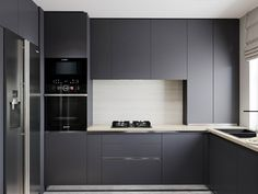 How to clean a plancha? U Shaped Kitchen, Condo Kitchen, Kitchen Room Design, Home Room Design, Modern Kitchen Design, Home Decor Kitchen, Modern House Design, Kitchen Furniture, Kitchen Interior
