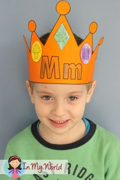 "FREE Letter M Crown. A fun activity to complement any ""Letter of the Week"" curriculum!"