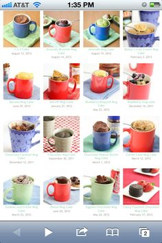 So many good recipes for desserts in a mug!!!