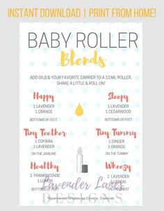 Different Types of Citrus Oils and Their Benefits - PLEASE READ ALL INFORMATION BELOW 🙂 This baby roller recipe card with Young Living essential oils is a wonderful resource for essential oil users! Essential Oils For Babies, Doterra Essential Oils, Young Living Essential Oils, Essential Oil Diffuser, Essential Oil Blends, Gentle Baby Essential Oil, Essential Oils For Teething, Essential Oils For Pregnancy, Yl Oils