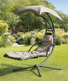 Look what I found on #zulily! Beige Helicopter Canopy Swing Seat #zulilyfinds