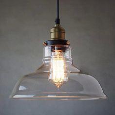Clear Glass Pendant Light Farmhouse Chandelier by ContemporaryRust