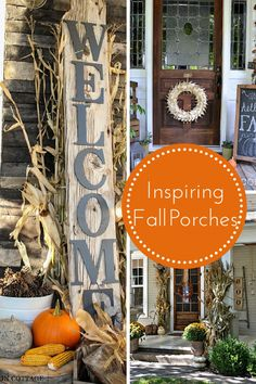 Inspiring Fall Porches :: making it in the mountains #fallporch #falldecor