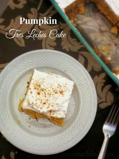 Pumpkin Tres Leches Cake. This cake is very good. I made it with French Vanilla cake mix.