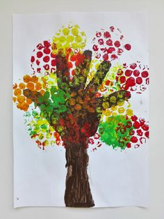 5 Handprint Colorful Fall Trees Ideas