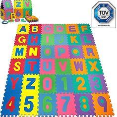 Spielteppich -TÜV SÜD geprüft- Kinderteppich Spielmatte Lernteppich 86 tlg…
