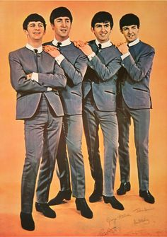 THE BEATLES IN GREY SUITS ORIGINAL VINTAGE POSTER by  ANONYMOUS