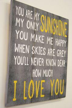 You Are My Sunshine Boys Nursery Decor Girls Nursery Decor