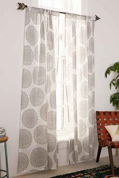 Grey medallion curtains, Urban Outfitters