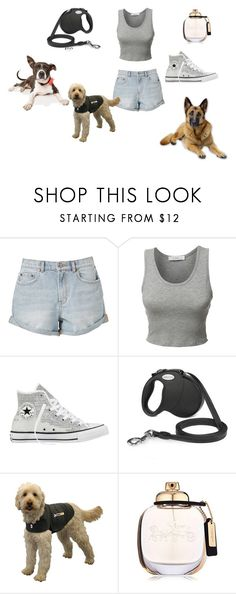 """""""Walking the dogs"""" by poochie-lover on Polyvore featuring LE3NO, Converse and Coach"""