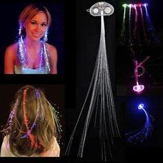 Lumineux LED ses extensions fibre optique LED de hair - fête des enfants
