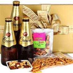 - One of the most popular Australian beers, this hamper suits even the most discerning tastebuds! 3 x Carlton Crown Lager Casses Premium Salted Mini Pretzels Nibbles and Snax Premium Fruit and Nut Mix 75 Get Well Gift Baskets, Get Well Gifts, Fathers Day Hampers, Australian Beer, Hampers Online, Best Valentine's Day Gifts, Gourmet Gifts, Mixed Nuts, Liquid Gold