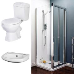 Bi-Fold Shower Enclosure and En-Suite Set - 3 Size Options at Victorian Plumbing UK