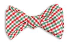 High Cotton | Christmas Tattersall Bow Tie