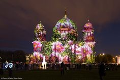 Artist: Oliver Brenneisen. The #FestivalOfLights has invited ten #designers, #creatives and #artists to design the facade of the #BerlinCathedral under the motto #ColoursOfJoy.   #BerlinerDom #Berlin #Colours #Light