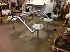 furniture for sale in Dallas, Texas Industrial Chic, Dining Table, Base, Antiques, Furniture, Home Decor, Antiquities, Antique, Decoration Home