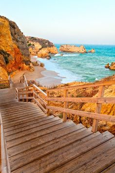Steps to the Sea, Dona ana Beach, Portugal