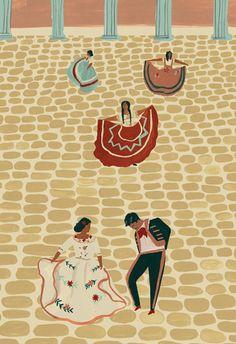 Inspiration for Kristal & Matt - Mexican Wedding Art Print -- inspiration for a vintage mexican inspired wedding! Ole!