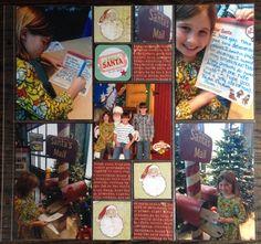 Santa's letter scrapbook layout