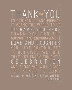 rustic thank you wedding sign PRINTABLE by xSimplyModernDesignx