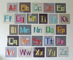 Maybe one day... Paper Piecing instructions to make letter quilt blocks by Elizabeth Hartman...