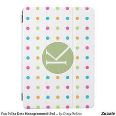 Fun Polka Dots Monogrammed iPad Pro 9 Smart Cover