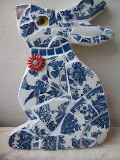 Mosaic Rabbit in china £15.00