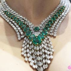 Diamond and Emerald Necklace Emerald Necklace, White Necklace, Emerald Jewelry, Pendant Necklace, Stone Necklace, Green Necklace, Diamond Jewellery, Brighton Jewelry, Pandora Jewelry