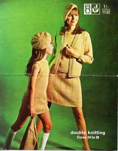 ladies jacket sweater skirt beret knitting от coutureknitcrochet
