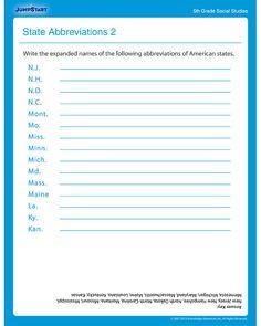 Printables Printable Social Studies Worksheets landmarks free printable social studies worksheet for kids state abbreviations 2 worksheet