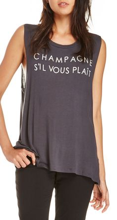 Champagne, if you please - graphic Tees always make a fashion statement. My Unique Style, Style Me, T Shirts With Sayings, Cute Shirts, In Vino Veritas, Daily Look, Dress To Impress, Style Inspiration, T Shirts For Women
