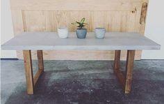 Makers Lane :: Concrete Blocks Dining Table Custom Made, Bespoke Furniture made in Australia.