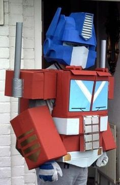 How To Make An Optimus Prime Costume From Cereal Boxes